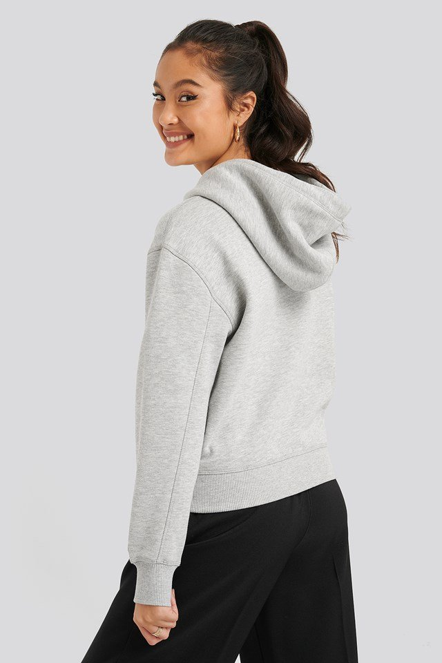 Embroidery Hoodie Light Grey Heather