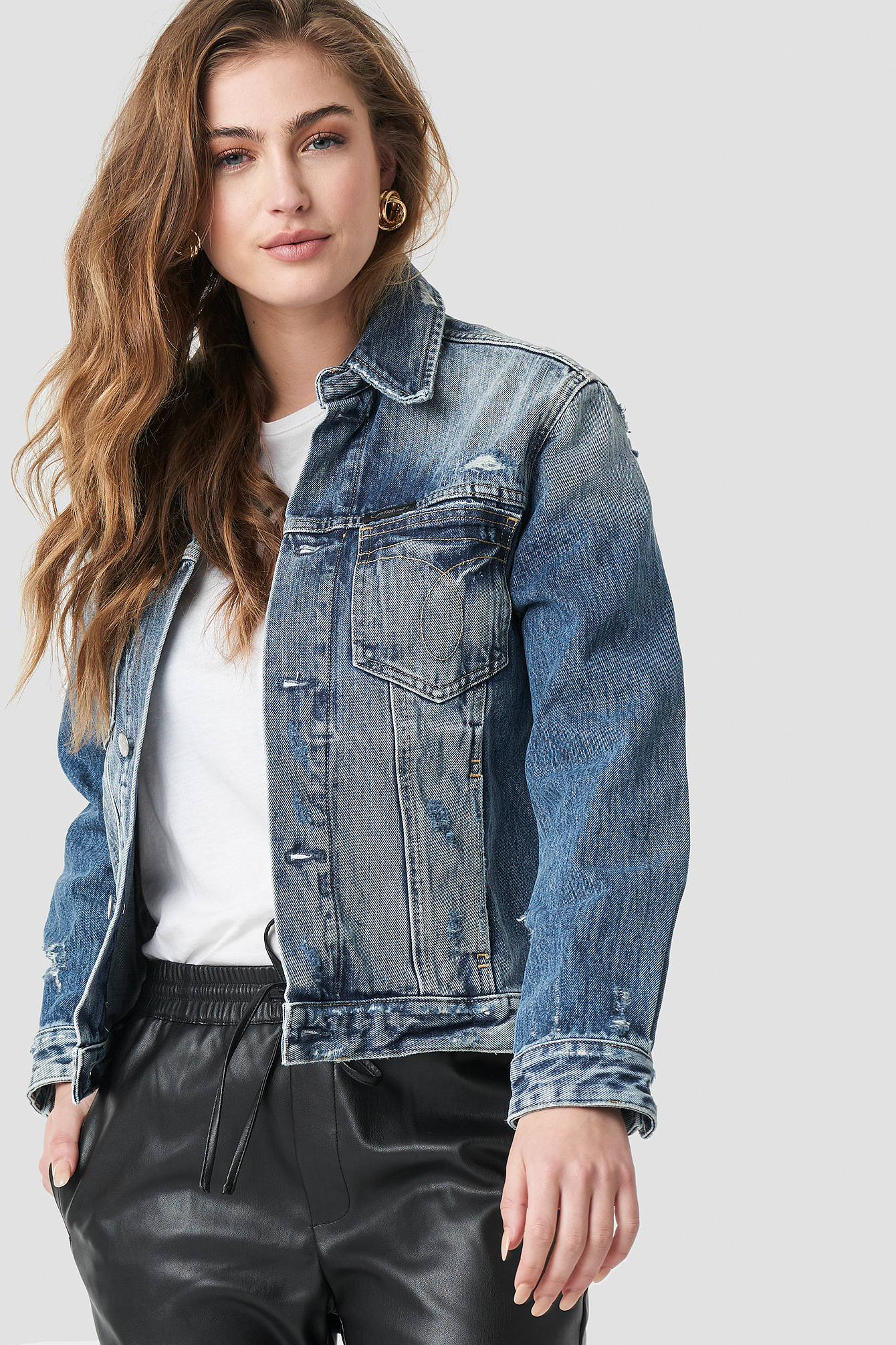 Calvin Klein Foundation Omega Trucker Jacket - Blue