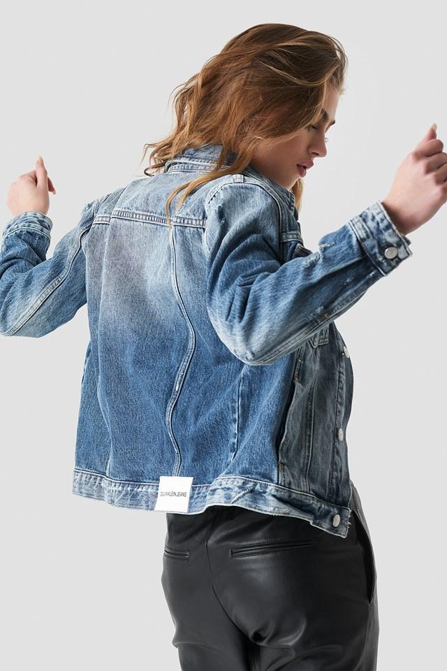 Foundation Omega Trucker Jacket Minerva Blue