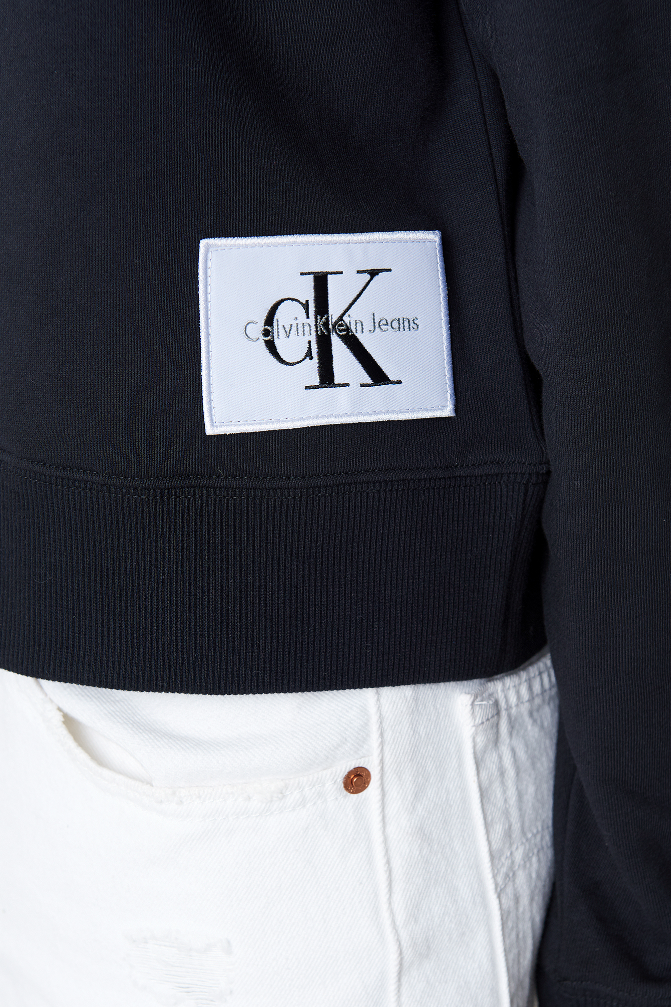 Ck Black/Bright White Harrisom True Icon Hoody