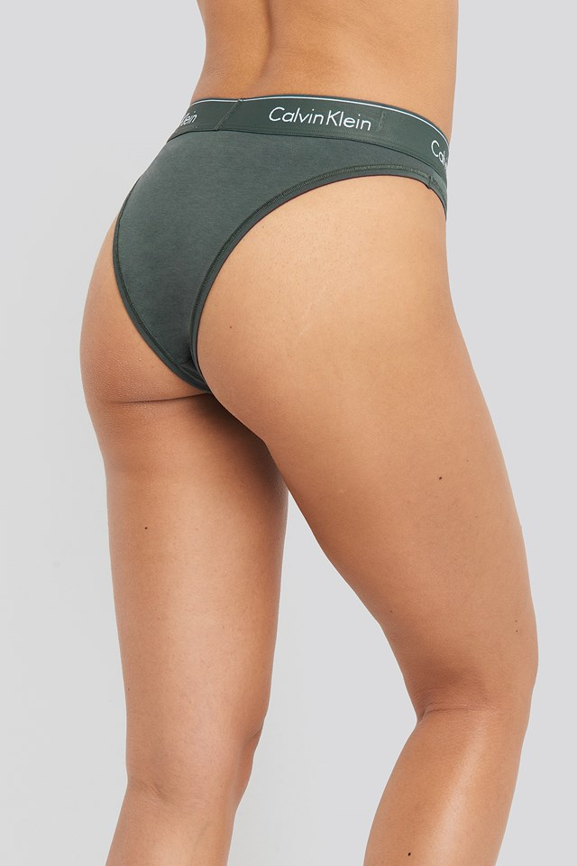 High Leg Tanga Green