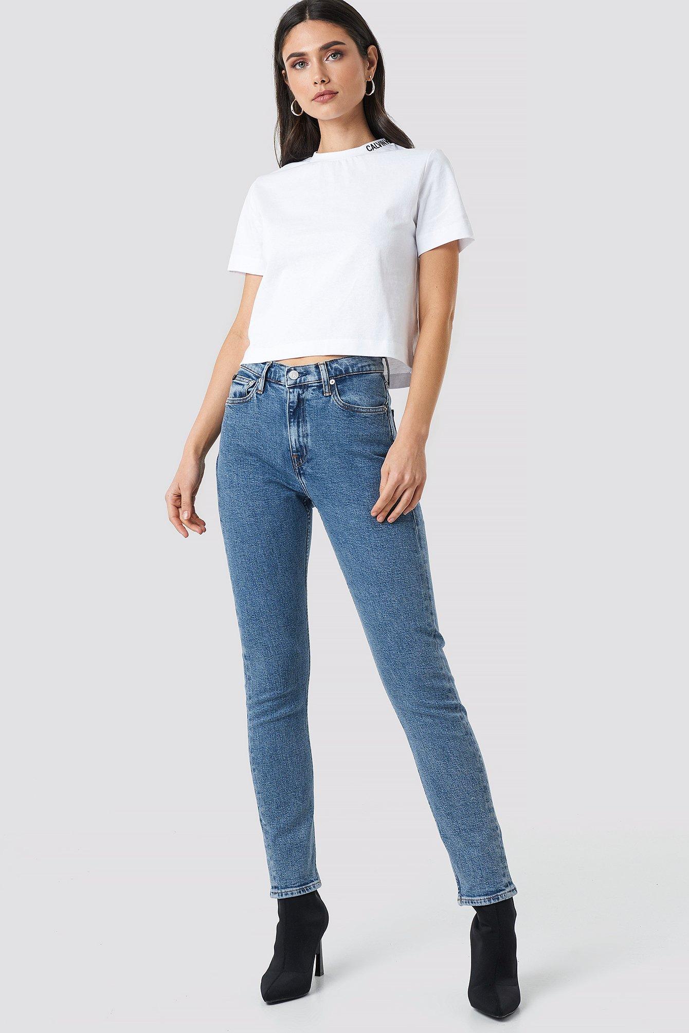 High Rise Slim Jeans NA-KD.COM