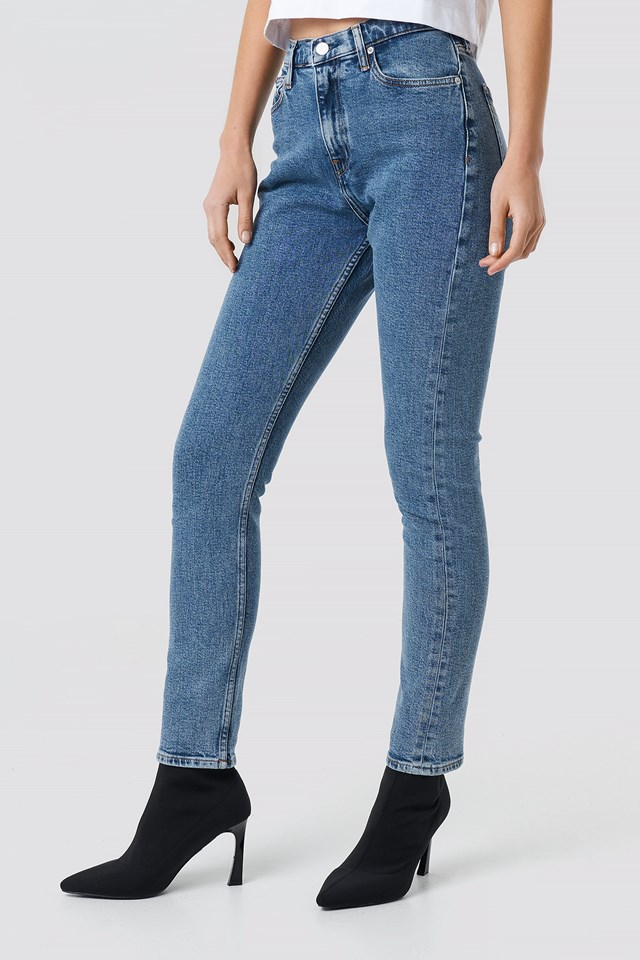 High Rise Slim Jeans Iconic Mid Stone