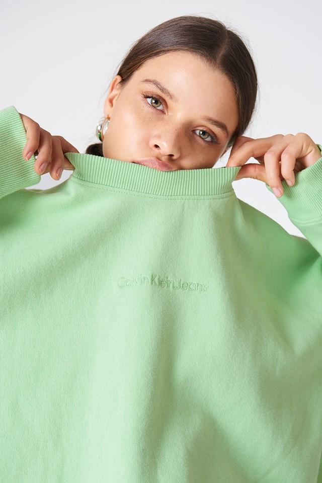 Hilary Crew Neck Long Sleeve Green Ash