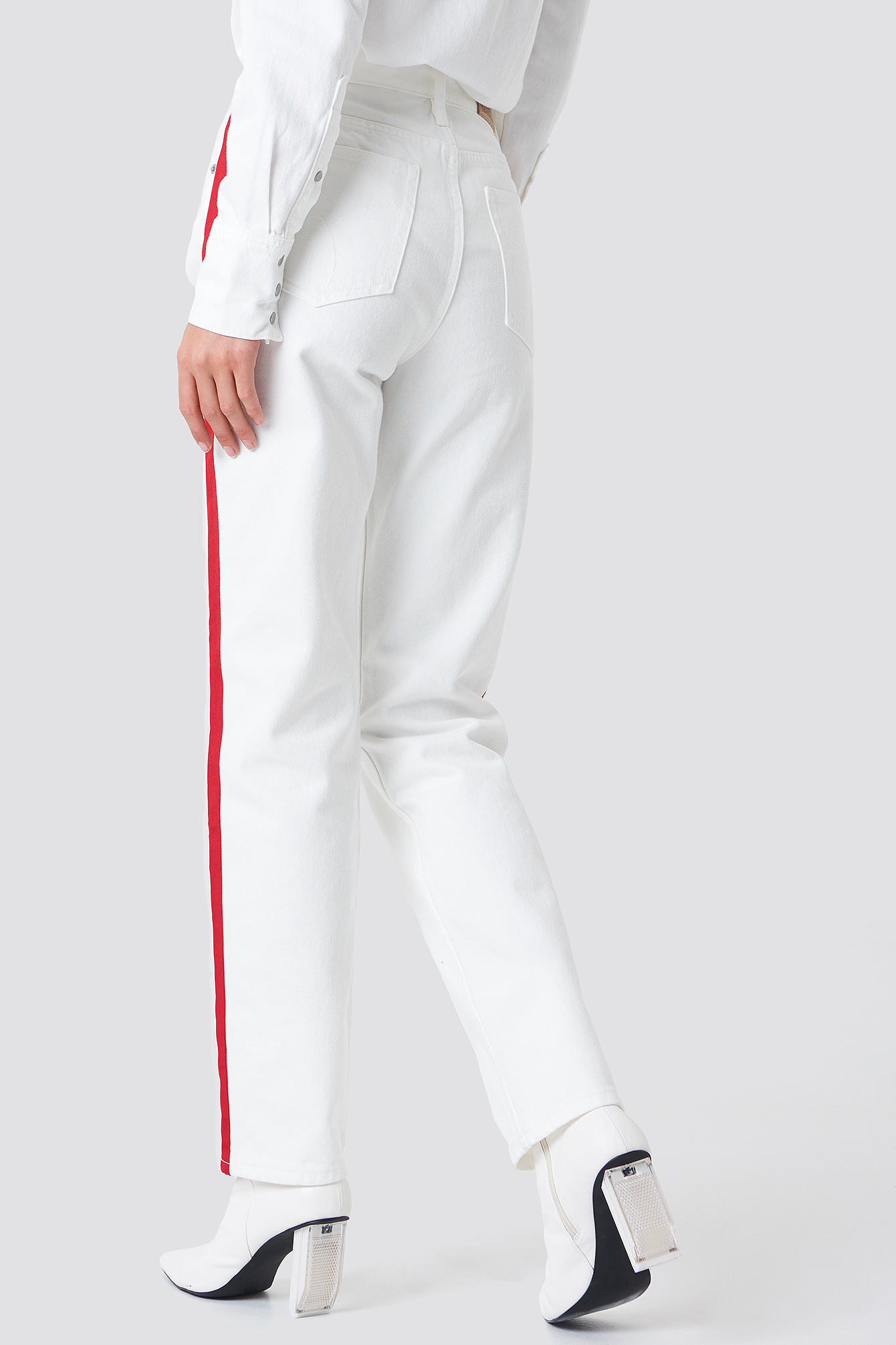 HR Straight Taped Pants NA-KD.COM