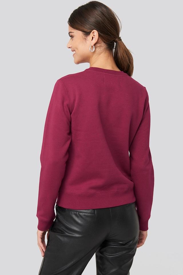 Ïnstitutional Regular Crew Neck Sweatshirt Beet Red/Blossom