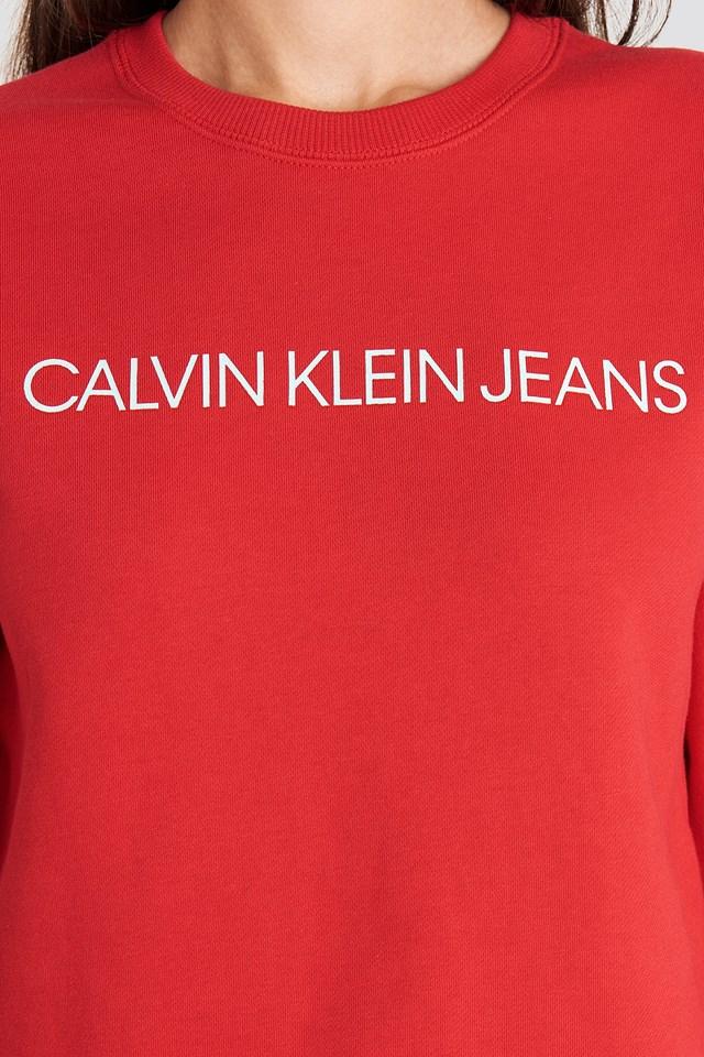 Ïnstitutional Regular Crew Neck Sweatshirt Red