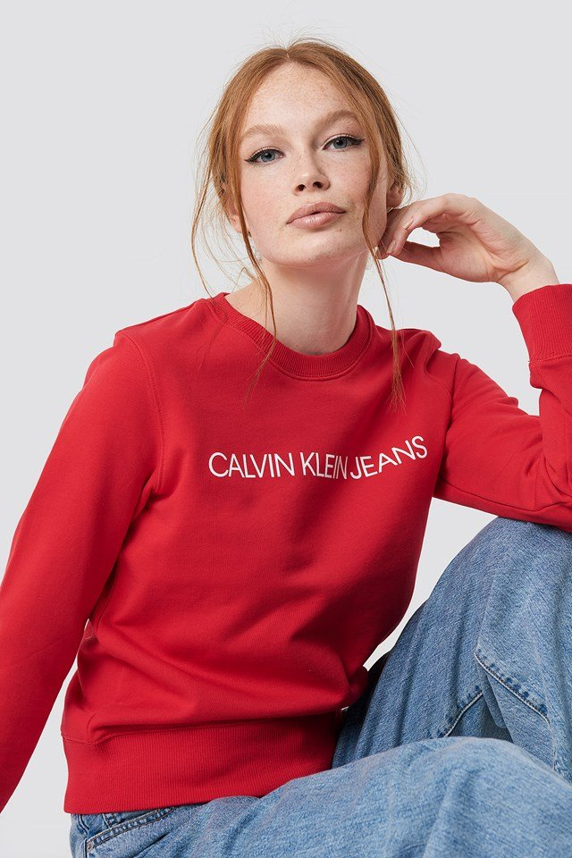 Institutional Regular Crewneck Calvin Klein