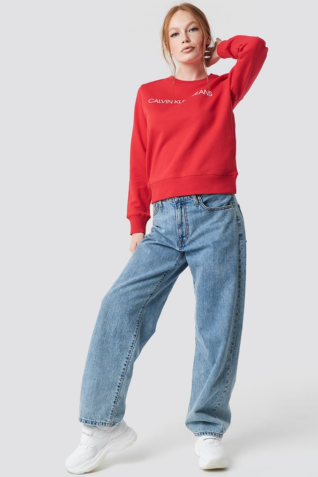 Institutional Regular Crewneck Racing Red