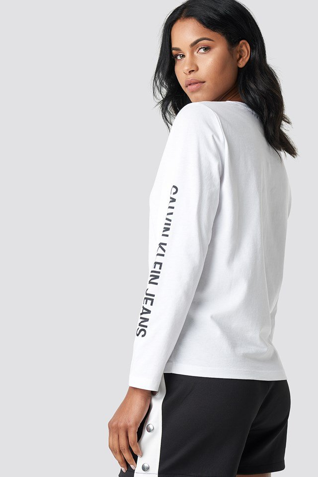 Institutional Straight Crop LS Bright White