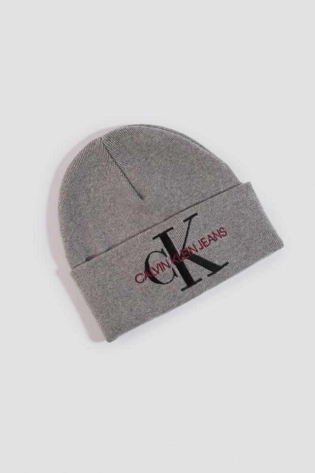 J Basic Women Knitted Beanie Hat Mid Grey Heather