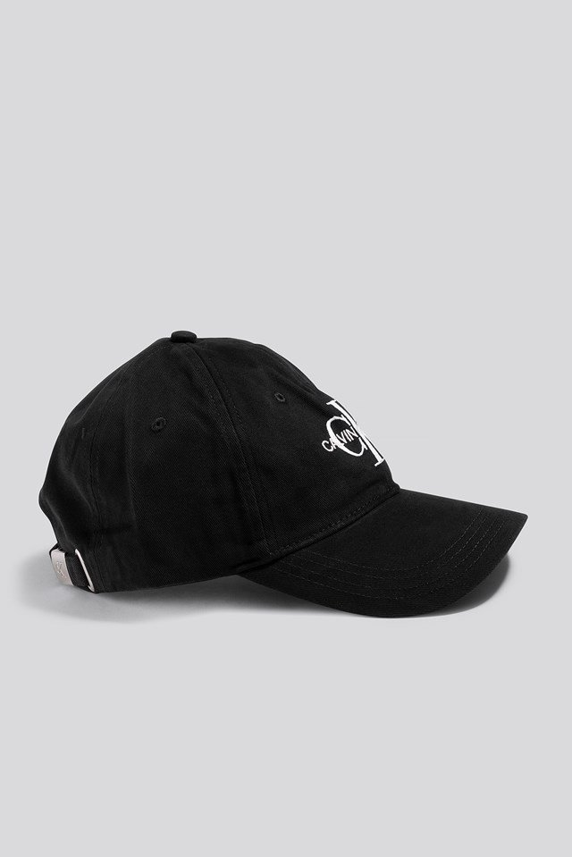 J Embroidery Monogram Cap Black Beauty