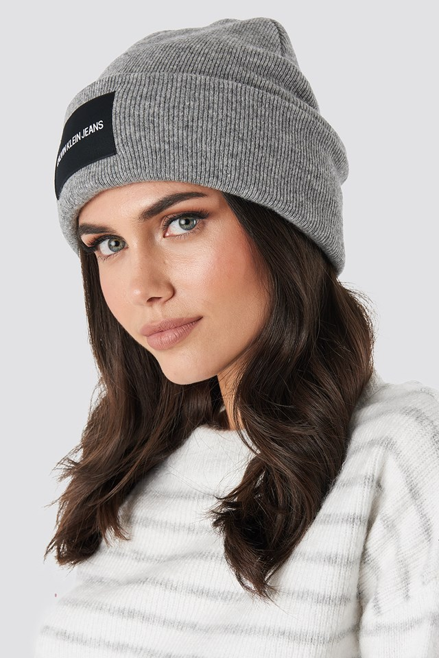 J Institutional Beanie Hat Mid Grey Heather