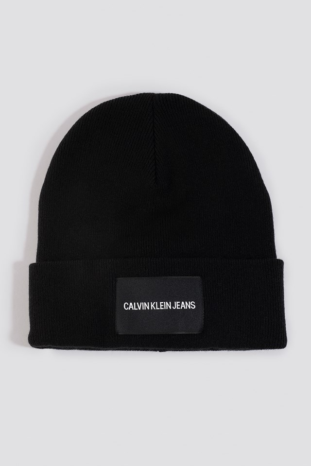 J Institutional Beanie Hat Black Beauty