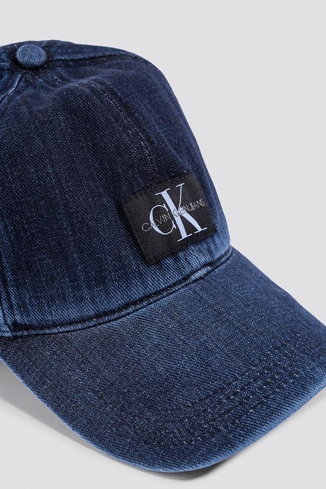 J Monogram Cap W Dark Wash