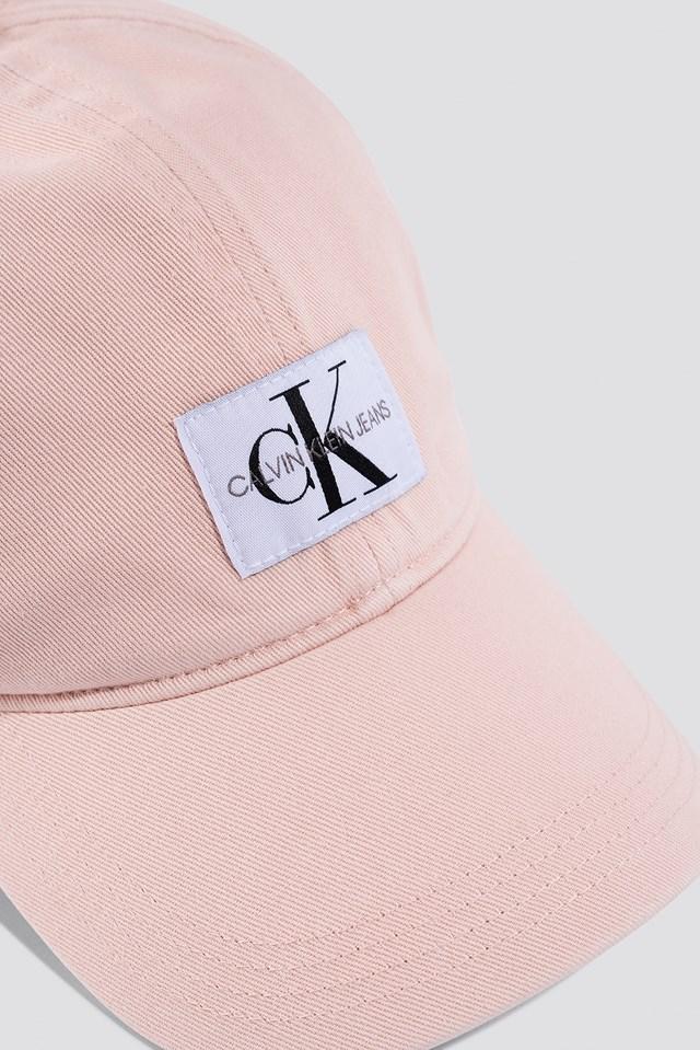 J Monogram Cap W Peachy Keen