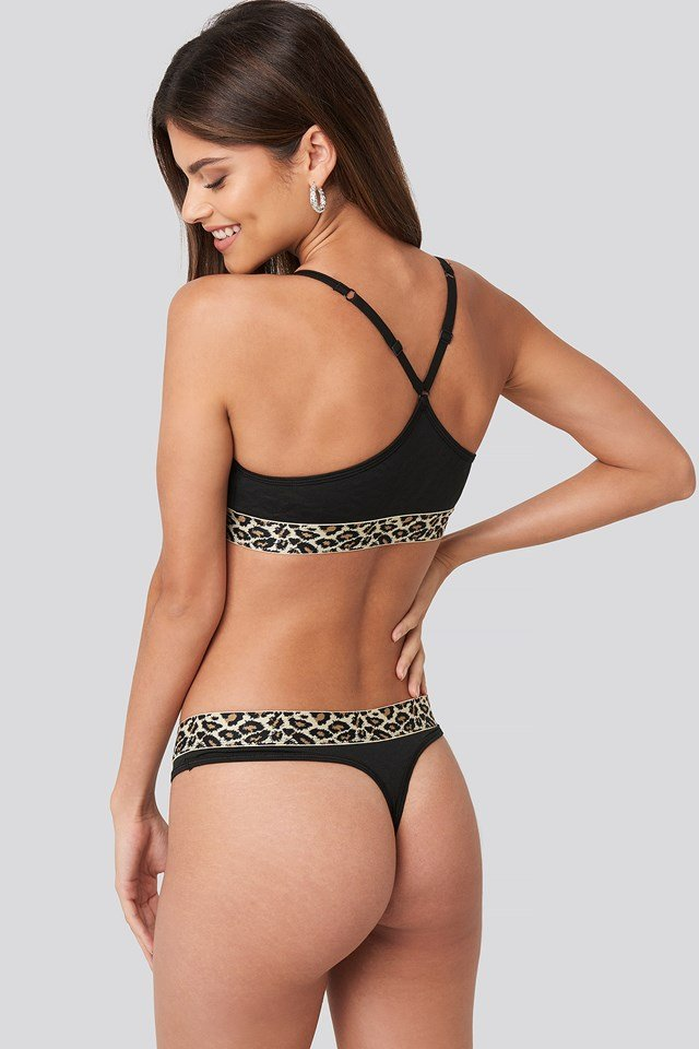 Micro Coordinate Thong Black