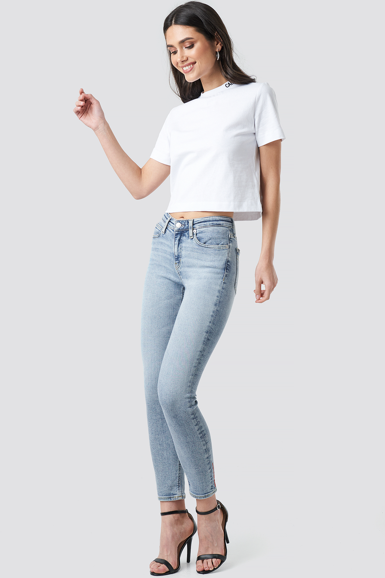 Mid Rise Skinny Ankle Jeans NA-KD.COM