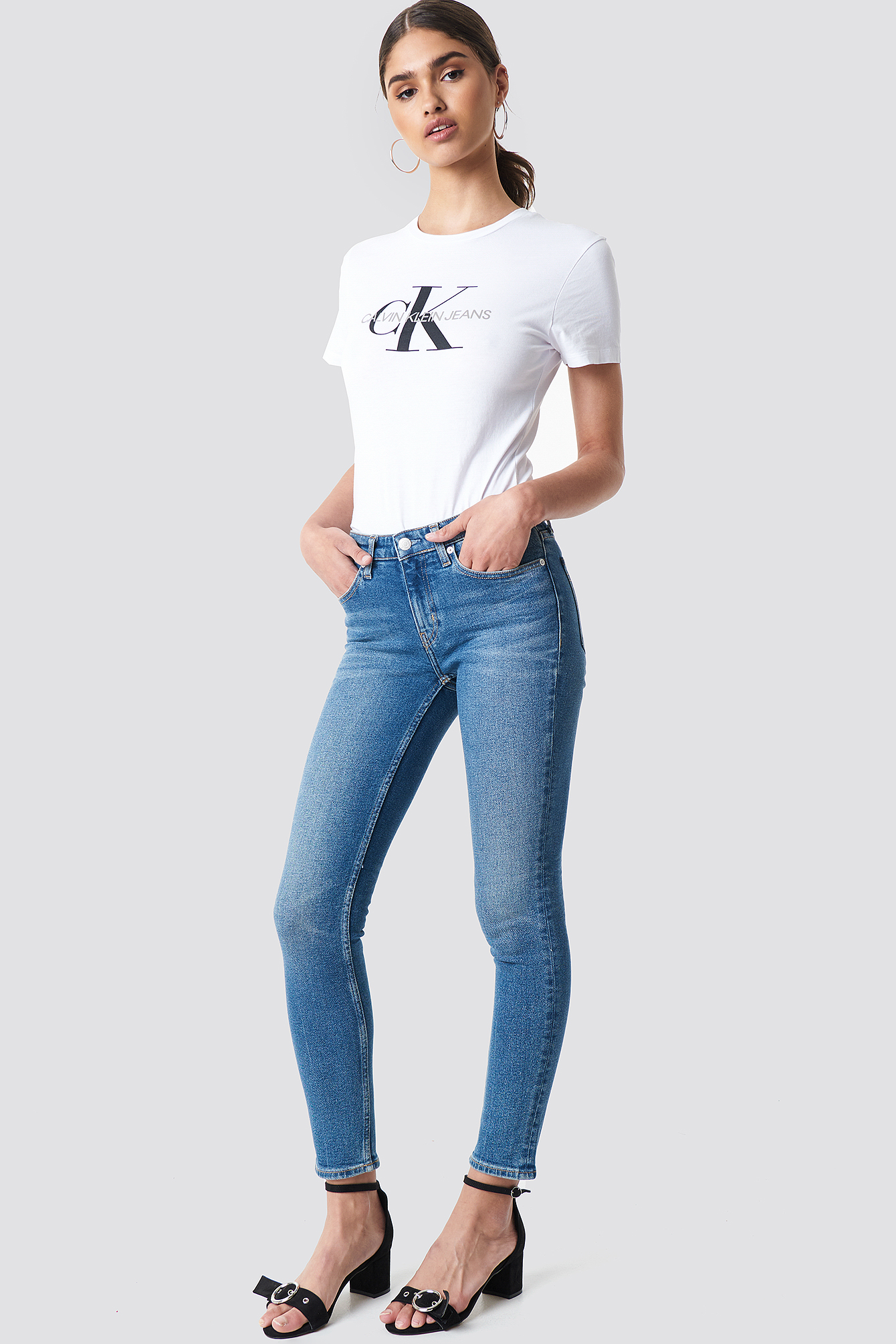 Jeansy Mid Rise Skinny West NA-KD.COM