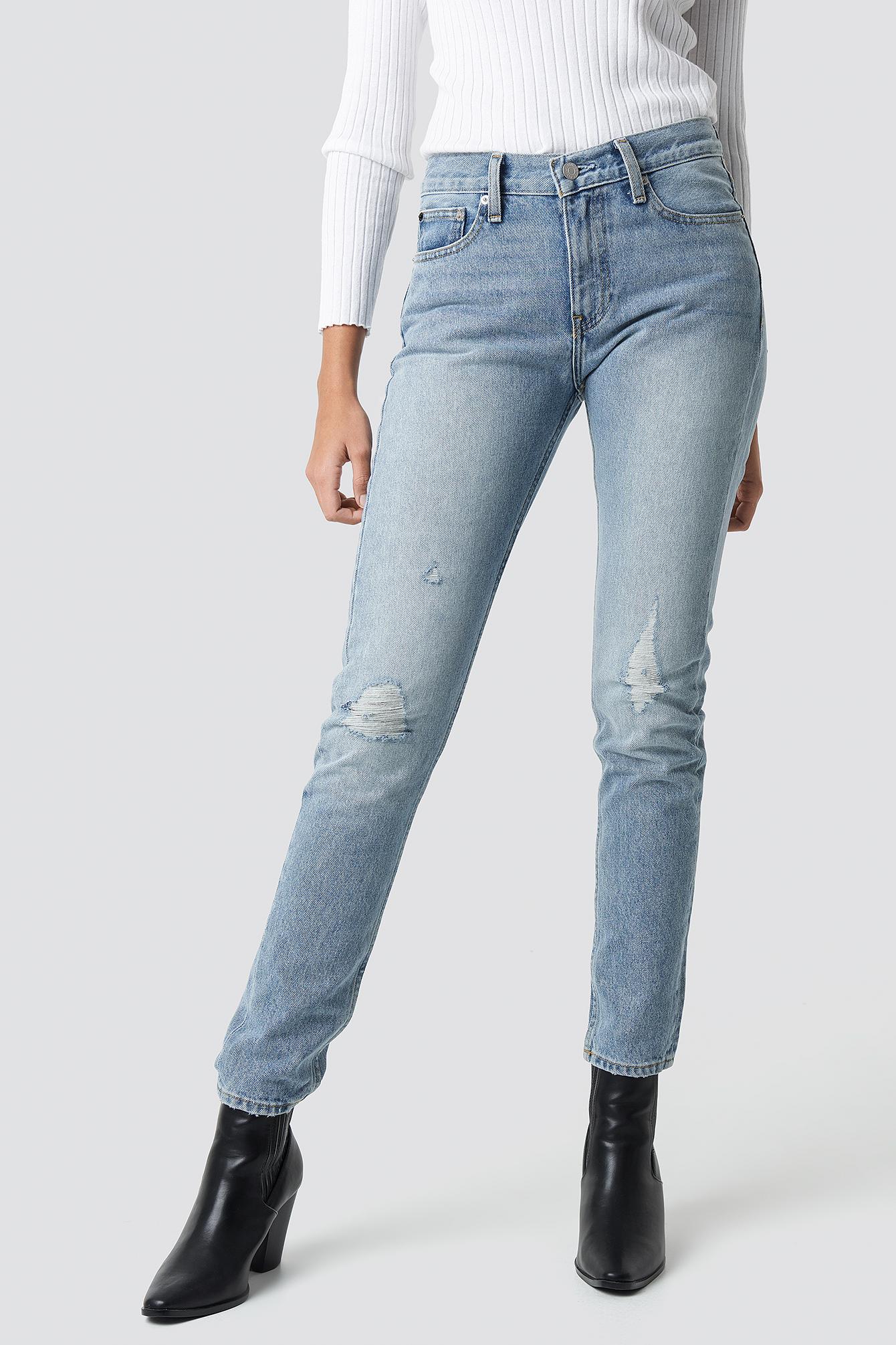 Mid Rise Slim Jeans NA-KD.COM