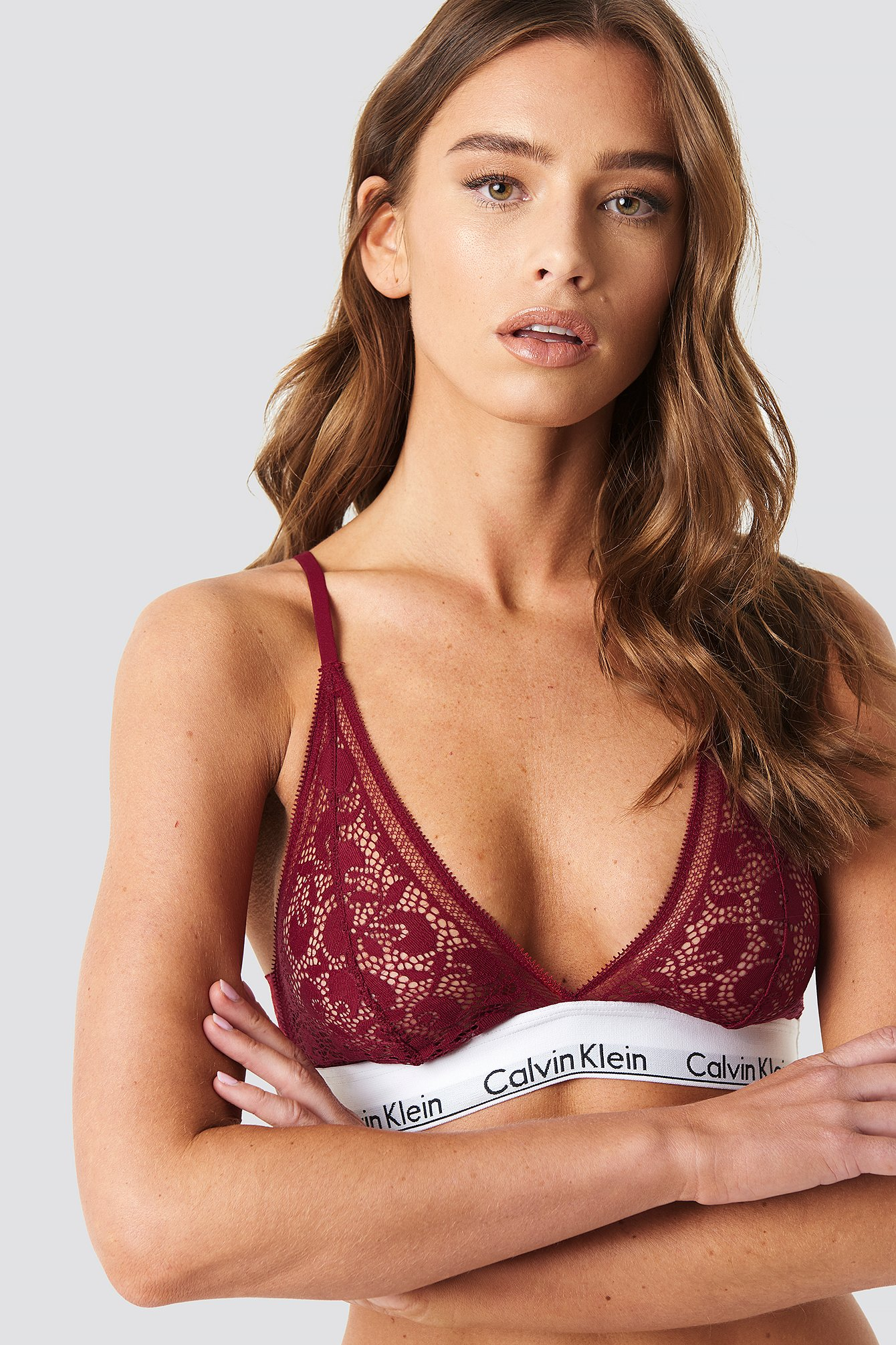 Modern Cotton Lace Triangle Bra NA-KD.COM