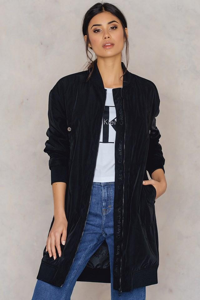 Olga Long Bomber Jacket CK Black