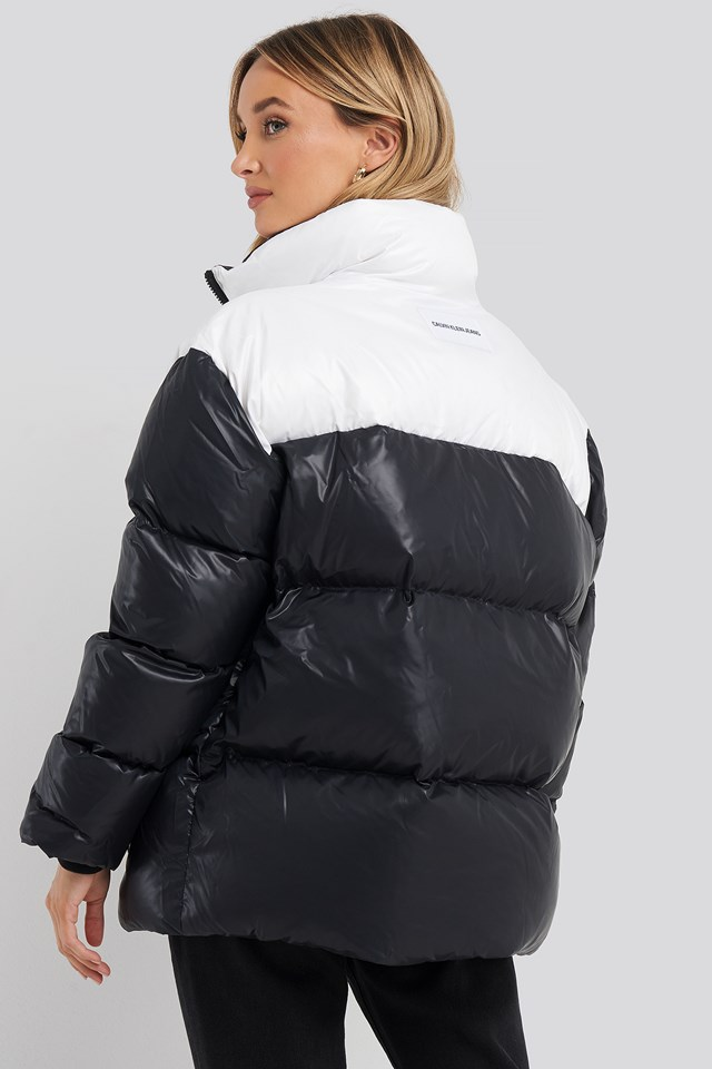 Oversized Down Blocking Jacket CK Black