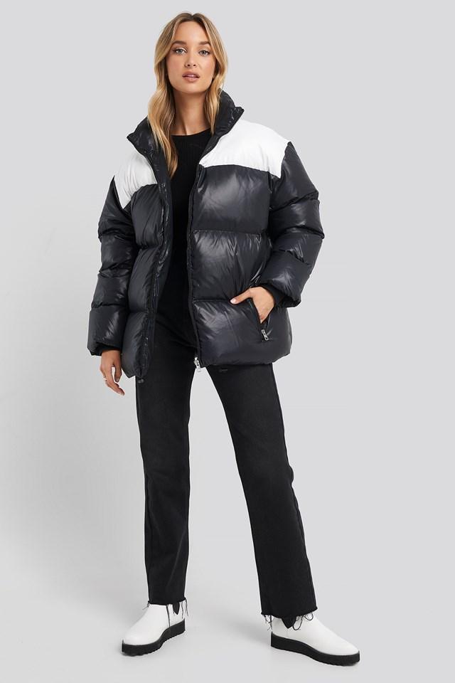 Oversized Down Blocking Jacket CK Black