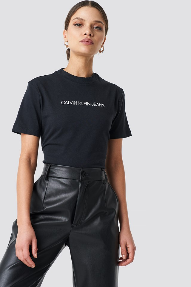 Shrunken Institutional Crop Tee CK Black