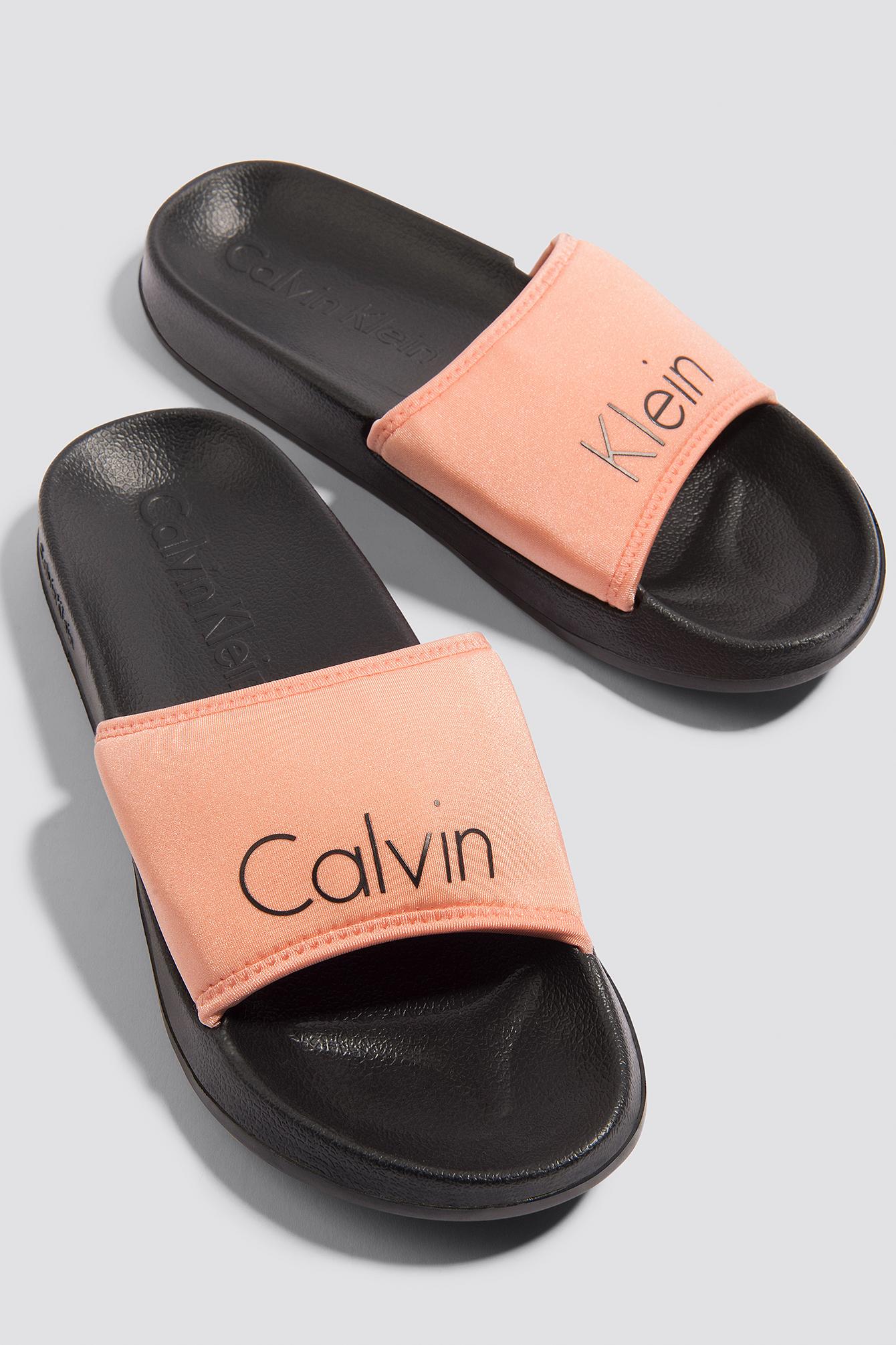 calvin klein -  Slide - Black,Pink,Multicolor