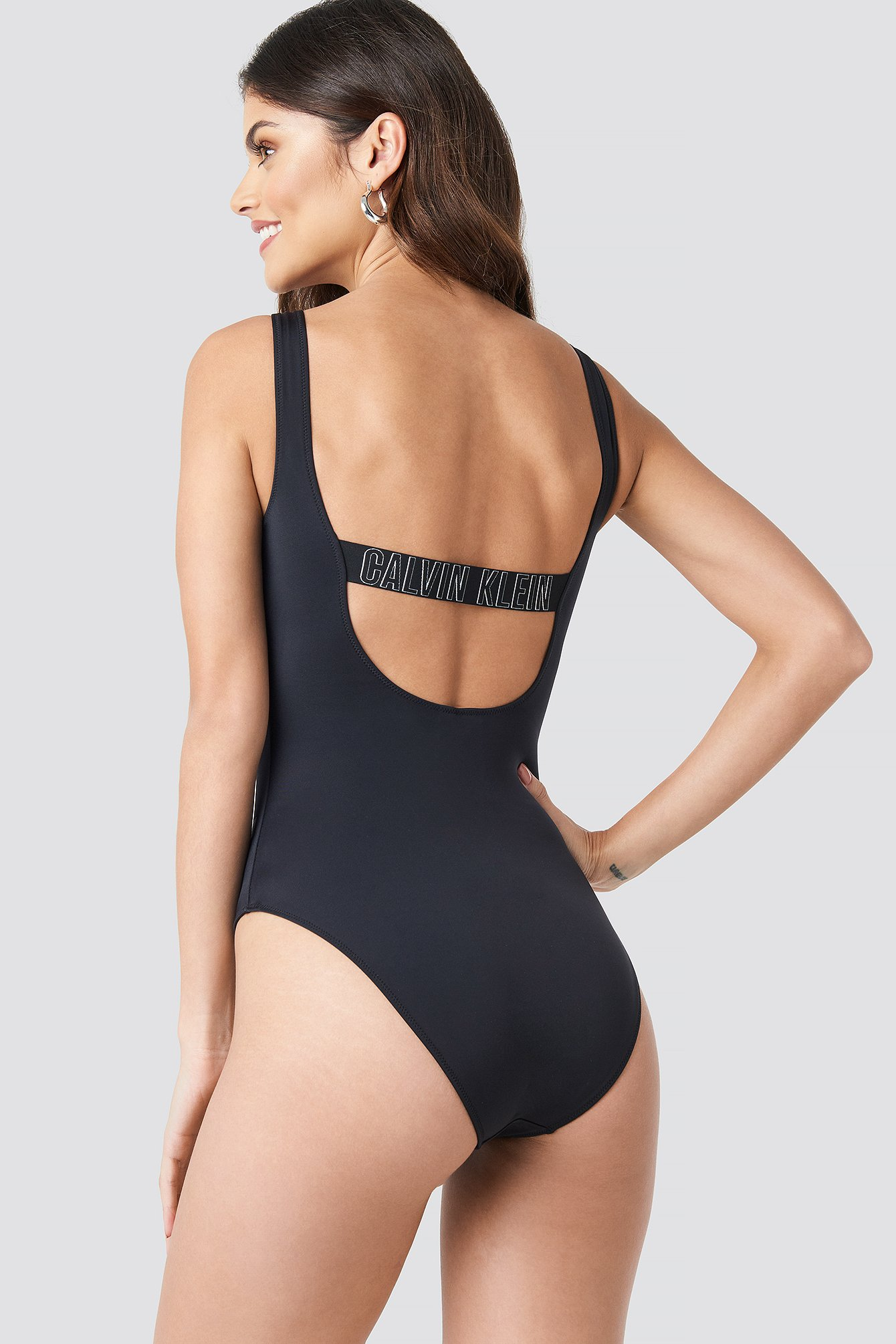 Square Scoop One Piece Swimsuit NA-KD.COM