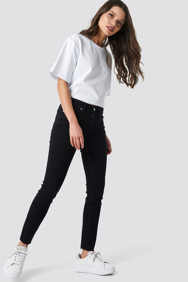 Super Skinny Ankle Jeans Jaelle Raw Hem