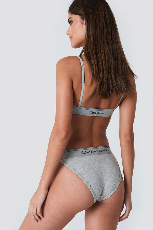 Tanga High Leg Panties Grey Heather