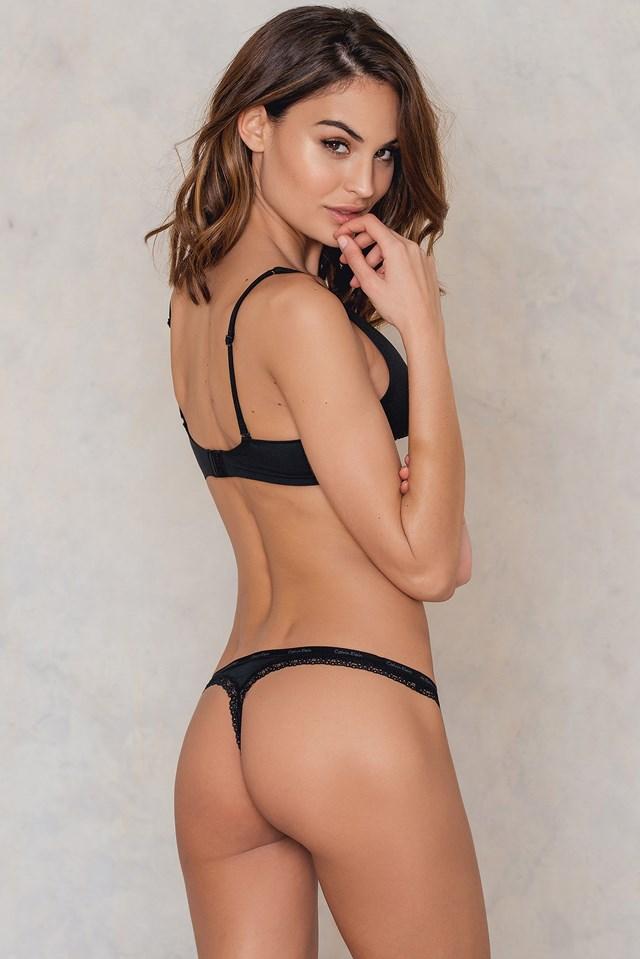 Thong Bottoms Up Black