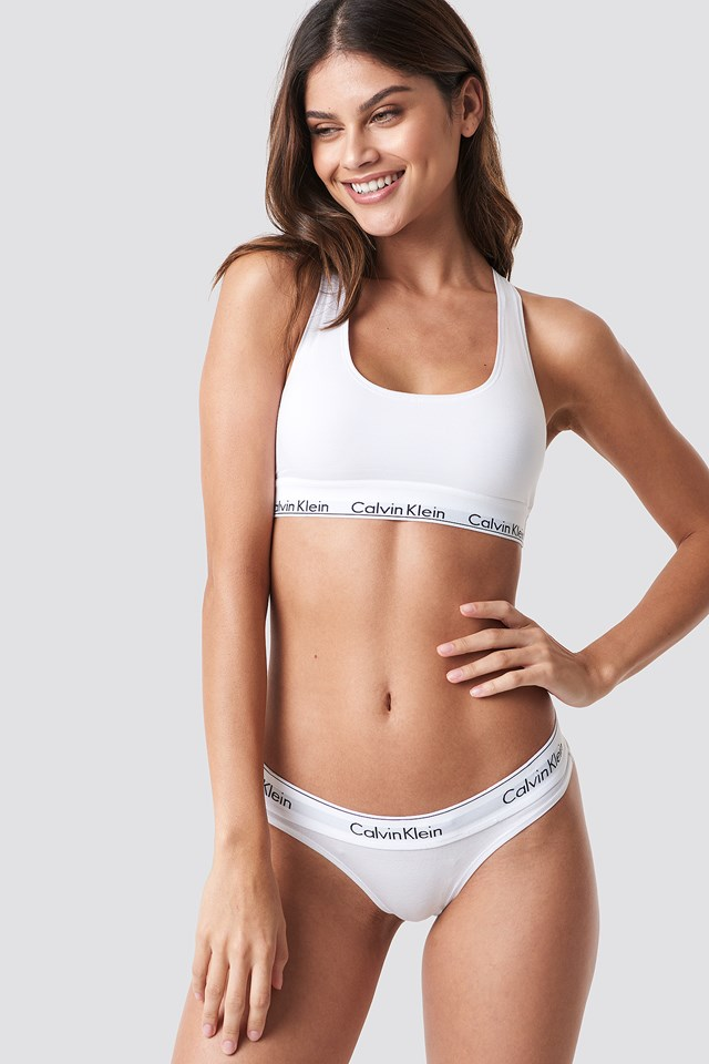 Thong Modern Cotton White