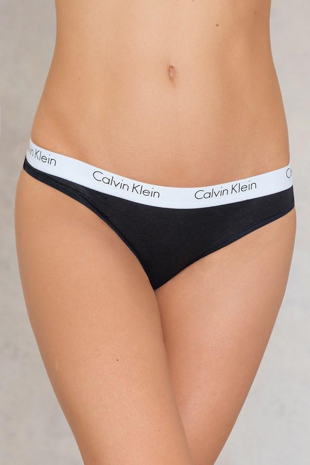 Thong One Cotton Black