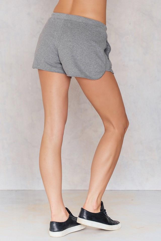True Icon Track Shorts Light Grey Heather
