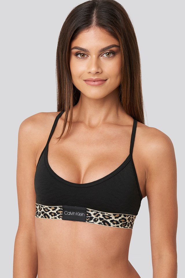 Unlined Micro Bralette Black