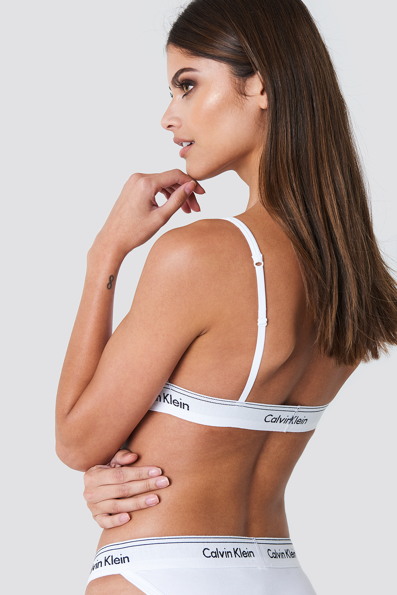 Calvin Klein Unlined Triangle Bra - White