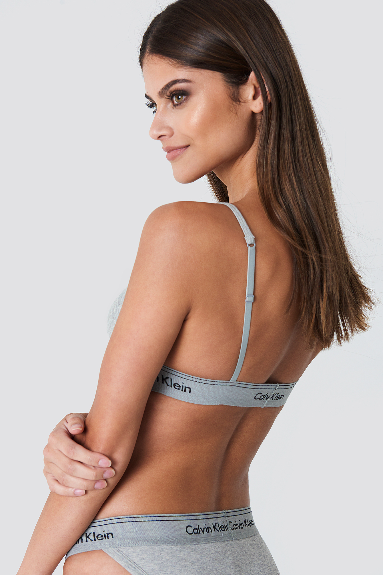 Calvin Klein Unlined Triangle Bra - Grey
