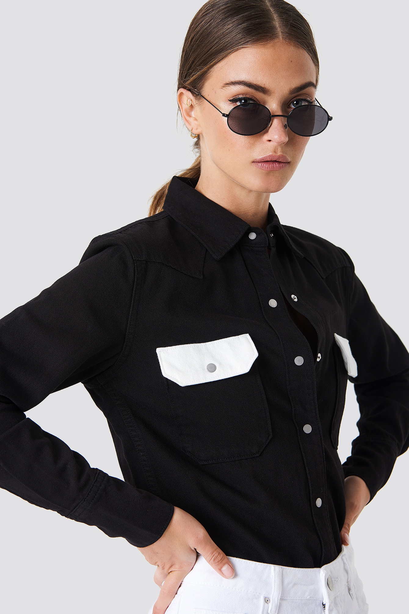 WESTERN LEAN CONTRAST SHIRT - BLACK