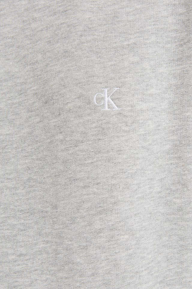 Embroidery Regular Crew Neck Sweater Light Grey Heather