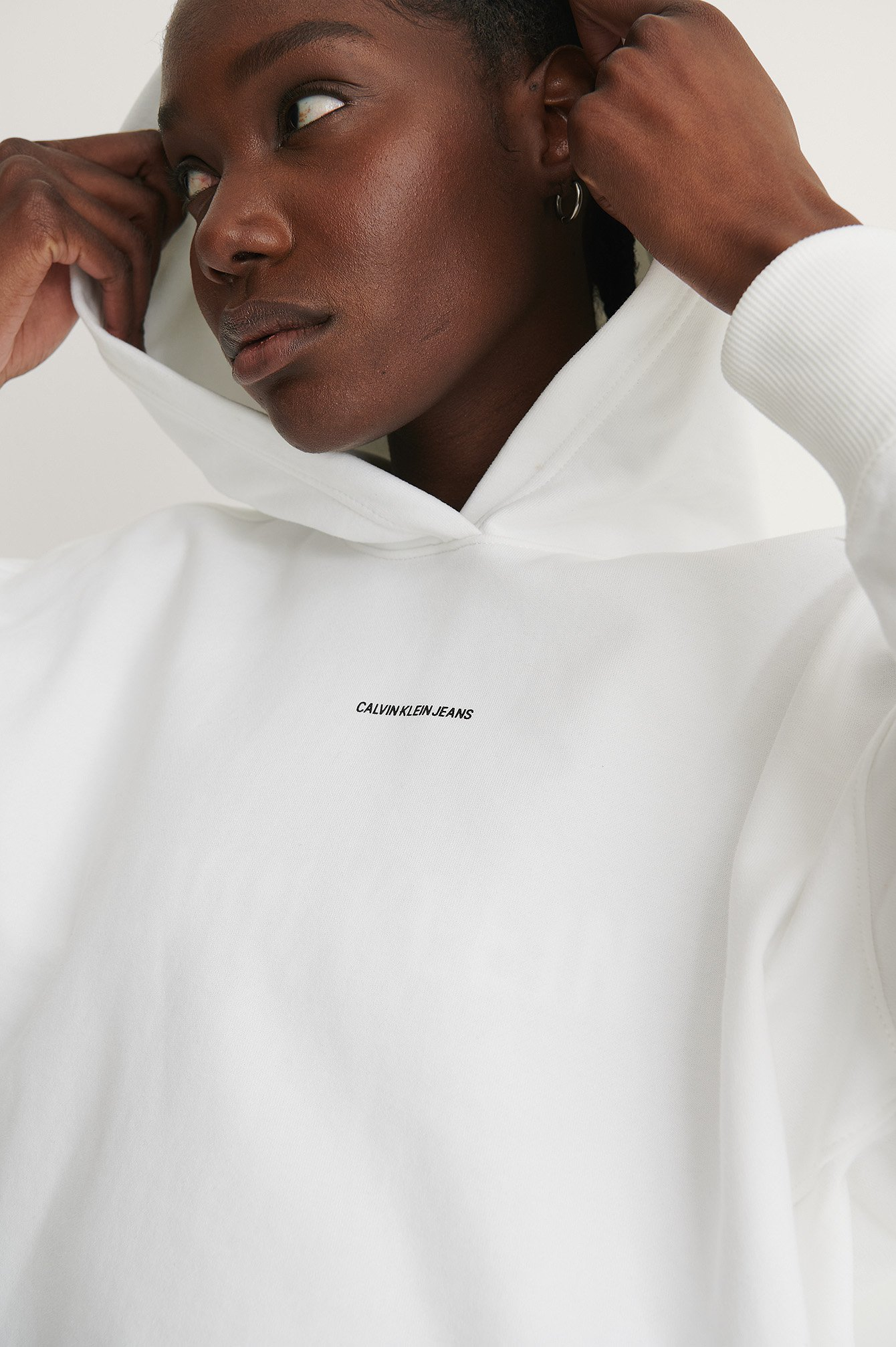Bright White Kapuzenpulli