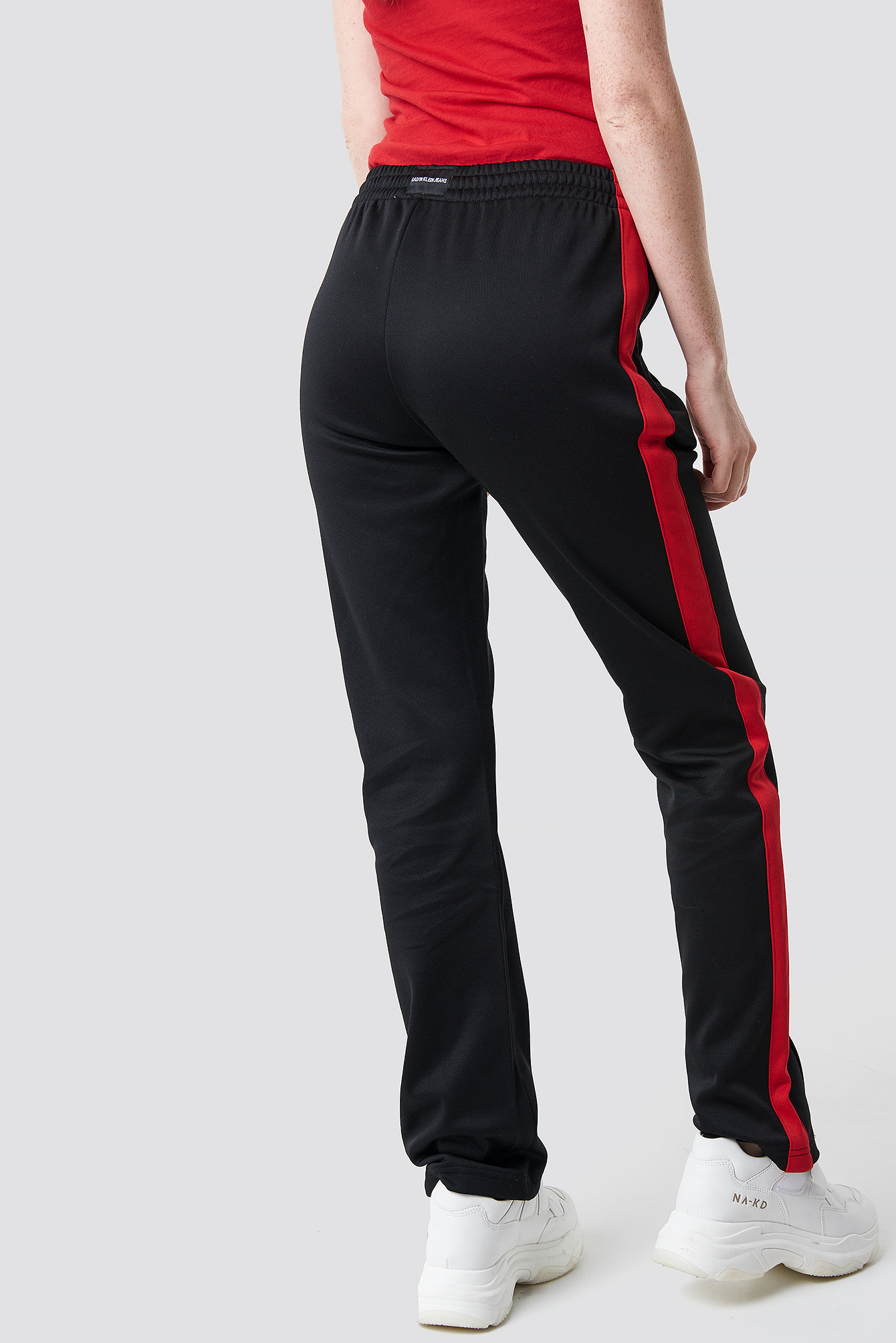 Pant Ck Stripe Red Hr Side Na Blackracing Track zxfwtIZ
