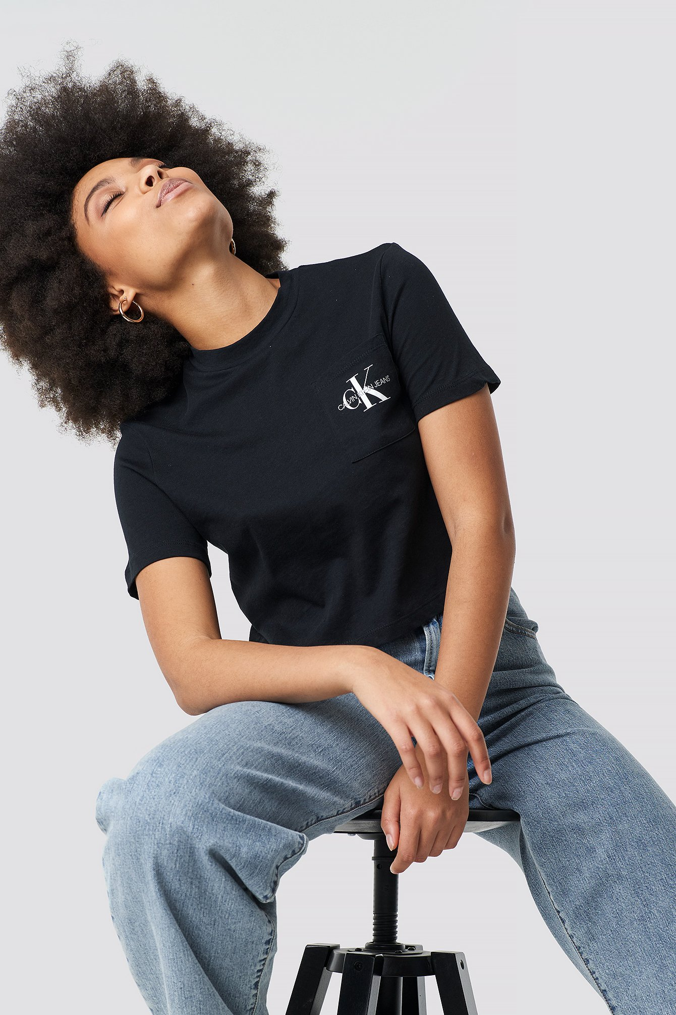 Monogram Crop Pocket Tee NA-KD.COM