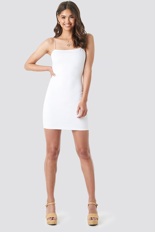 Basic Bodycon Dress White