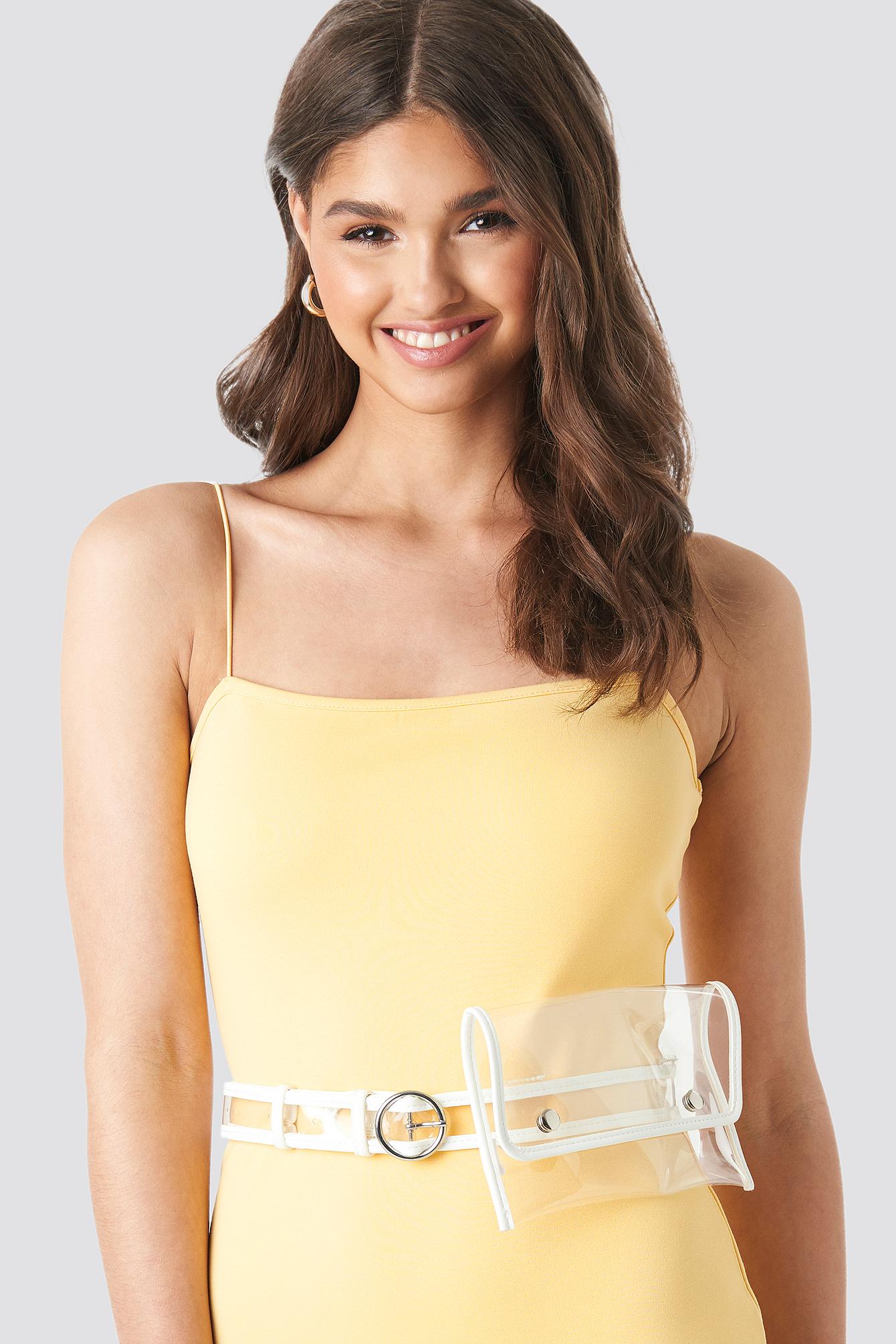 camille botten x na-kd -  Belted Waist Bag - White