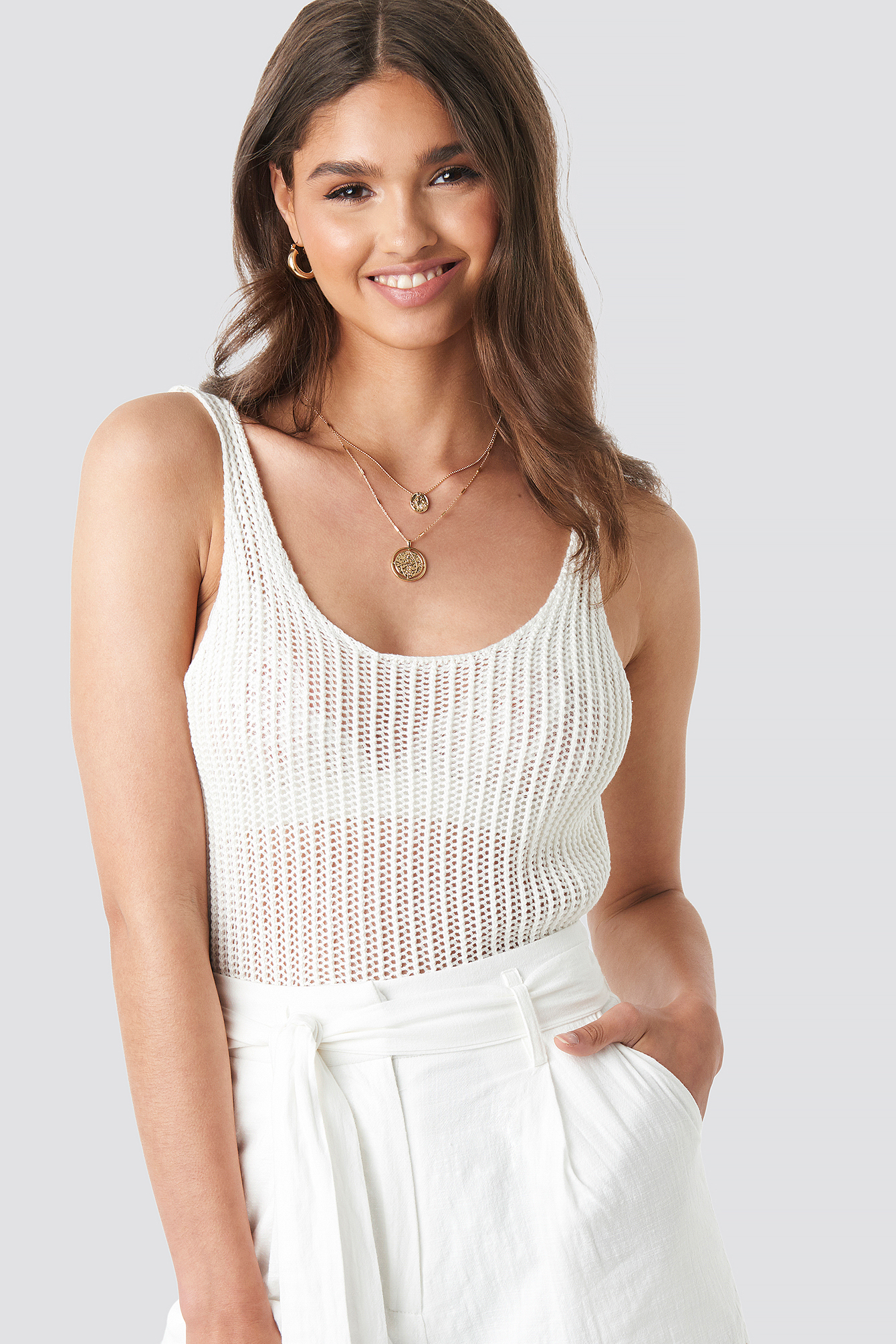 Crochet Knitted Top NA-KD.COM