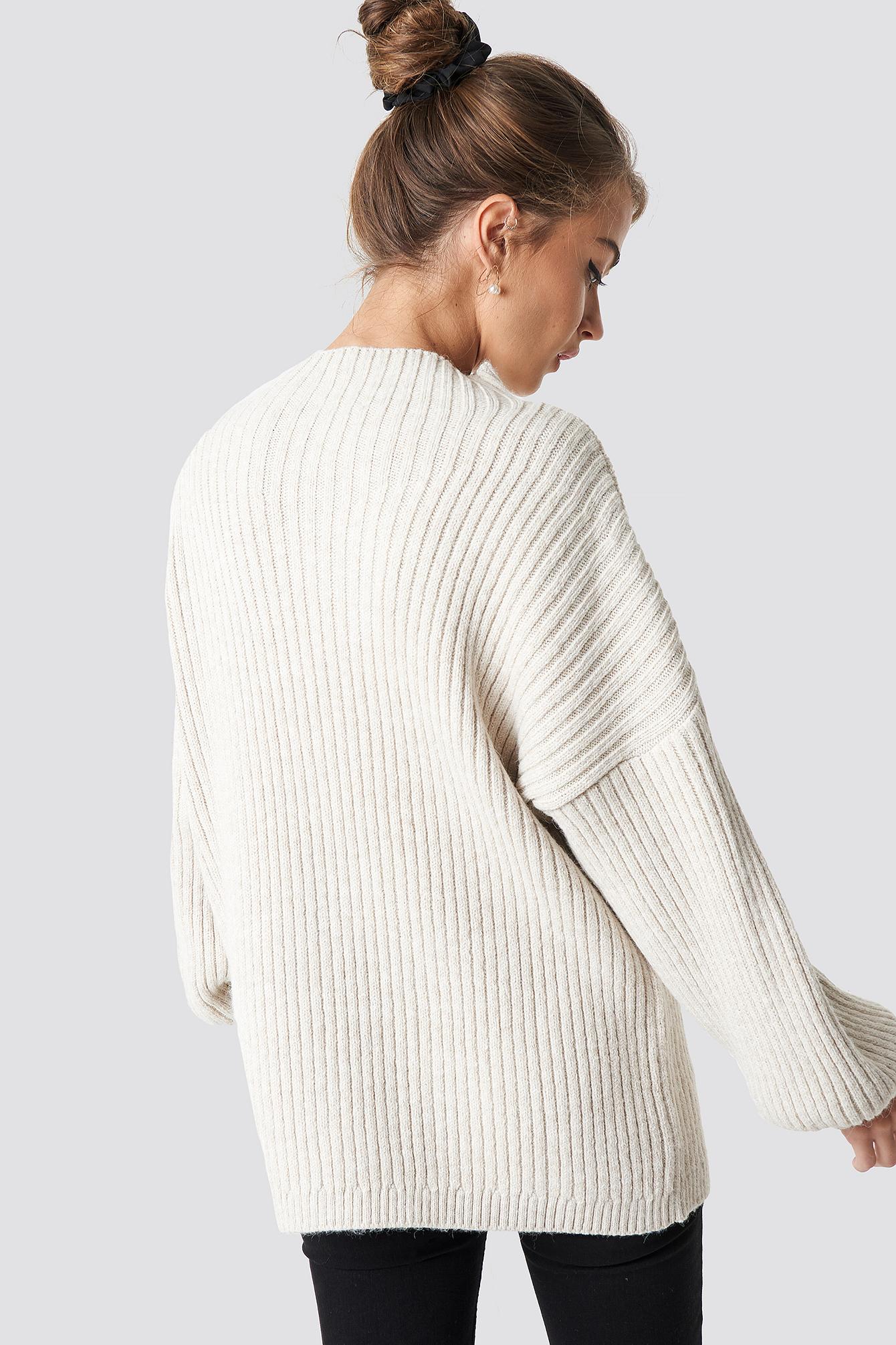 High Neck Oversize Sweater NA-KD.COM
