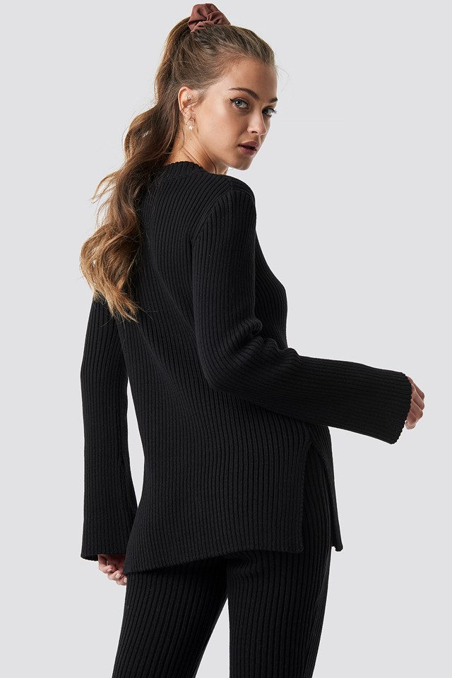 Knitted Ribbed Top NA-KD.COM
